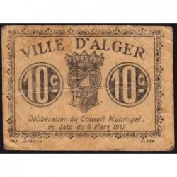 Algérie - Alger 7 - 10 centimes - 09/03/1917 - Etat : TB