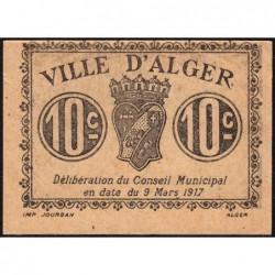 Algérie - Alger 7 - 10 centimes - 09/03/1917 - Etat : pr.NEUF
