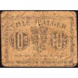 Algérie - Alger 8 - 10 centimes - 09/03/1917 - Etat : B+