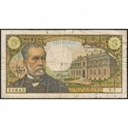 F 61-01 - 05/05/1966 - 5 francs - Pasteur - Série Y.7 - Etat : B