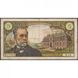 F 61-02 - 07/07/1966 - 5 francs - Pasteur - Série E.15 - Etat : TB-