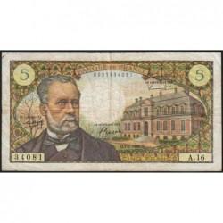 F 61-02 - 07/07/1966 - 5 francs - Pasteur - Série A.16 - Etat : TB+