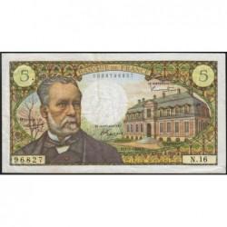 F 61-02 - 07/07/1966 - 5 francs - Pasteur - Série N.16 - Etat : TTB-