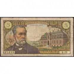 F 61-02 - 07/07/1966 - 5 francs - Pasteur - Série N.19 - Etat : TB-