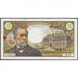 F 61-02 - 07/07/1966 - 5 francs - Pasteur - Série H.20 - Etat : TTB+