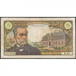 F 61-02 - 07/07/1966 - 5 francs - Pasteur - Série B.22 - Etat : TB-