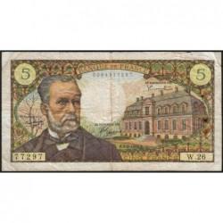F 61-03 - 01/09/1966 - 5 francs - Pasteur - Série W.26 - Remplacement - Etat : TB