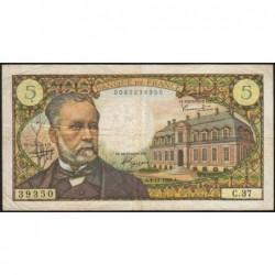 F 61-04 - 04/11/1966 - 5 francs - Pasteur - Série C.37 - Etat : TB+