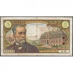 F 61-04 - 04/11/1966 - 5 francs - Pasteur - Série Q.38 - Etat : B