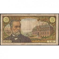 F 61-04 - 04/11/1966 - 5 francs - Pasteur - Série L.43 - Etat : TB-