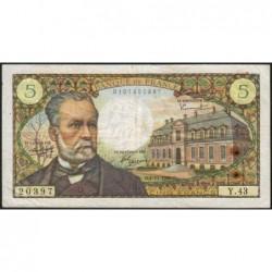 F 61-04 - 04/11/1966 - 5 francs - Pasteur - Série Y.43 - Etat : TTB-