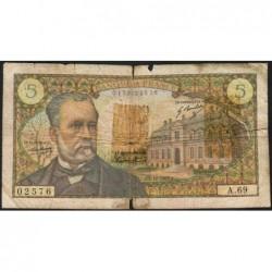 F 61-06 - 07/12/1967 - 5 francs - Pasteur - Série A.69 - Etat : B-