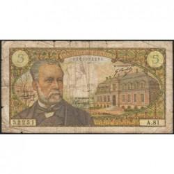 F 61-08 - 01/08/1968 - 5 francs - Pasteur - Série A.81 - Etat : B-