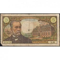 F 61-09 - 06/02/1969 - 5 francs - Pasteur - Série S.96 - Etat : B