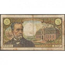 F 61-11 - 04/09/1969 - 5 francs - Pasteur - Série A.111 - Etat : TB-