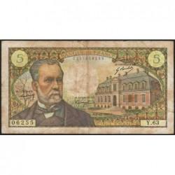 F 61-06 - 07/12/1967 - 5 francs - Pasteur - Série Y.63 - Etat : TB-