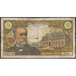 F 61-06 - 07/12/1967 - 5 francs - Pasteur - Série O.64 - Etat : B