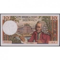 F 62-1 - 04/01/1963 - 10 francs - Voltaire - Série U.4 - Etat : SUP