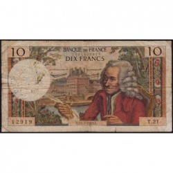 F 62-3 - 11/07/1963 - 10 francs - Voltaire - Série T.21 - Etat : B+