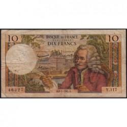 F 62-12 - 08/01/1965 - 10 francs - Voltaire - Série Y.117 - Etat : B+