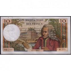 F 62-22 - 07/07/1966 - 10 francs - Voltaire - Série M.253 - Etat : SUP+
