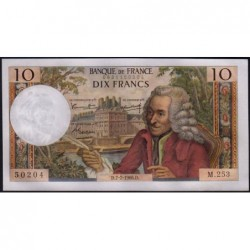 F 62-22 - 07/07/1966 - 10 francs - Voltaire - Série M.253 - Etat : SPL+
