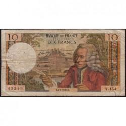 F 62-36 - 02/01/1969 - 10 francs - Voltaire - Série Y.454 - Etat : B+