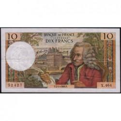 F 62-36 - 02/01/1969 - 10 francs - Voltaire - Série X.464 - Etat : TB+