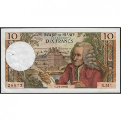 F 62-39 - 07/08/1969 - 10 francs - Voltaire - Série N.511 - Etat : SUP+