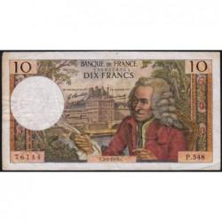 F 62-42 - 05/02/1970 - 10 francs - Voltaire - Série P.548 - Etat : TB