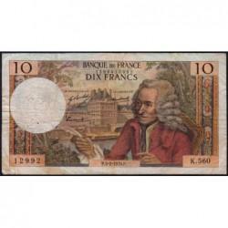F 62-42 - 05/02/1970 - 10 francs - Voltaire - Série K.560 - Etat : TB-