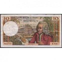 F 62-48 - 08/01/1971 - 10 francs - Voltaire - Série R.646 - Etat : TB