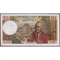 F 62-49 - 04/02/1971 - 10 francs - Voltaire - Série R.665 - Etat : TB+