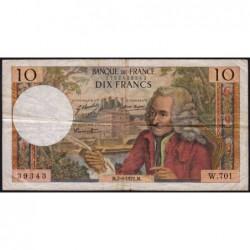 F 62-51 - 02/09/1971 - 10 francs - Voltaire - Série W.701 - Remplacement - Etat : TB