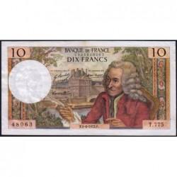 F 62-56 - 01/06/1972 (04/05/1972) - 10 francs - Voltaire - Série T.775 - Etat : TTB