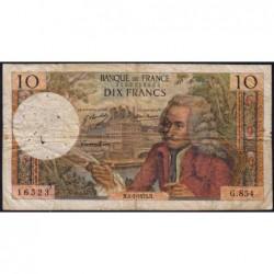 F 62-60 - 04/01/1973 - 10 francs - Voltaire - Série G.854 - Etat : B+
