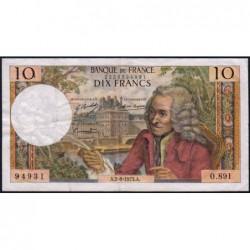 F 62-63 - 02/08/1973 - 10 francs - Voltaire - Série O.891 - Etat : TB