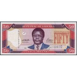 Libéria - Pick 24a - 50 dollars - Série DA - 1999 - Etat : NEUF