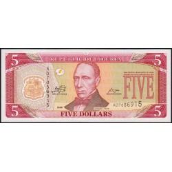 Libéria - Pick 26e - 5 dollars - Série AD - 2009 - Etat : NEUF