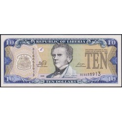 Libéria - Pick 27e - 10 dollars - Série BE - 2009 - Etat : NEUF