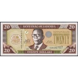 Libéria - Pick 28e - 20 dollars - Série CD - 2009 - Etat : NEUF