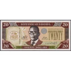 Libéria - Pick 28g - 20 dollars - Série CJ - 2011 - Etat : NEUF