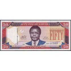 Libéria - Pick 29e - 50 dollars - Série DB - 2009 - Etat : NEUF