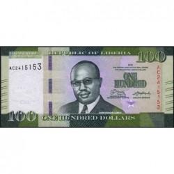 Libéria - Pick 35a - 100 dollars - Série AC - 2016 - Etat : NEUF