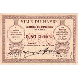 Le Havre - Pirot 68-01 variété - 50 centimes - Sans date - Etat : SUP