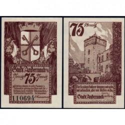 Allemagne - Notgeld - Andernach - 75 pfennig - 01/12/1920 - Etat : NEUF