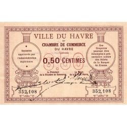 Le Havre - Pirot 68-01 - 50 centimes - Sans date - Etat : SUP