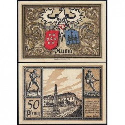 Allemagne - Notgeld - Auma - 50 pfennig - 01/11/1921 - Etat : NEUF