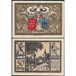 Allemagne - Notgeld - Auma - 50 pfennig - 01/11/1921 - Etat : SPL