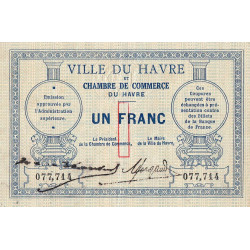 Le Havre - Pirot 68-04 - 1 franc - Sans date - Etat : TTB